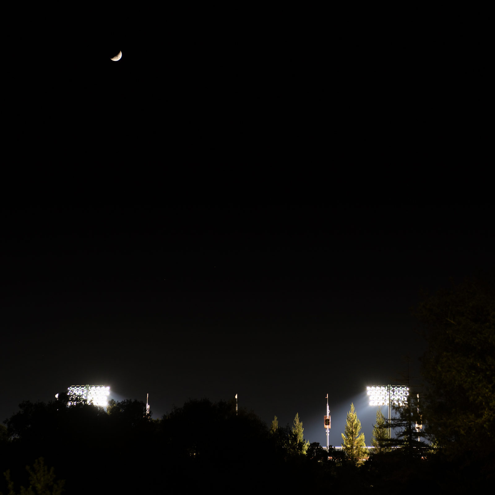 38.8% Crescent Moon over Stanford Stadium